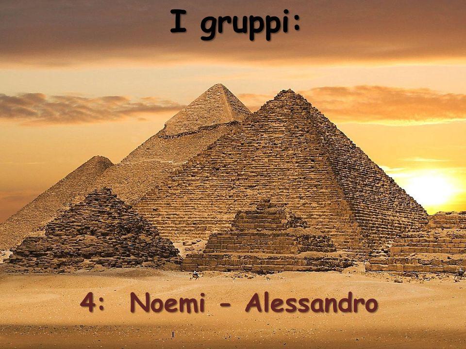 I gruppi: 4: Noemi - Alessandro