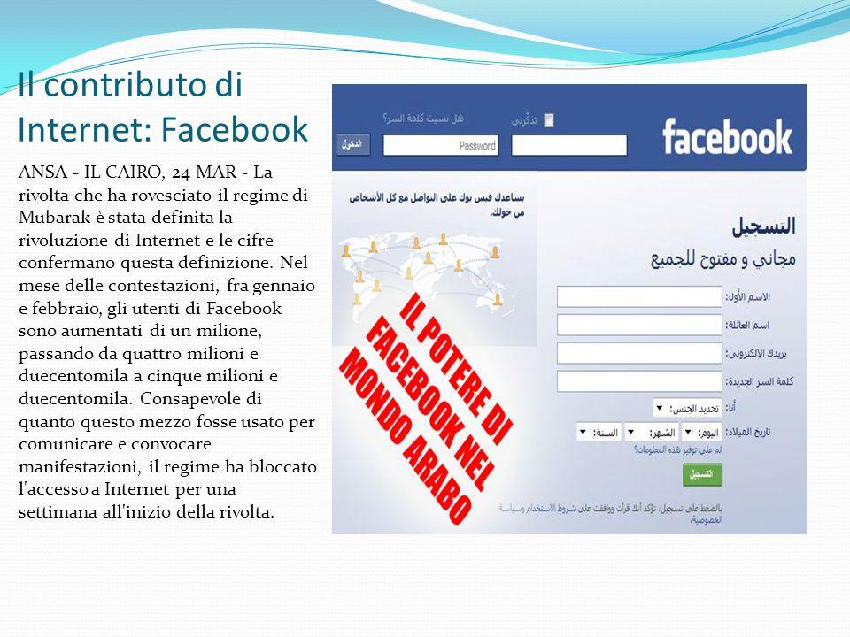 Il contributo di Internet: Facebook