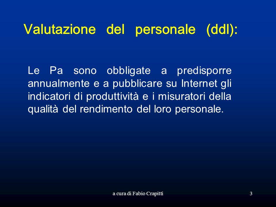 Valutazione del personale (ddl):