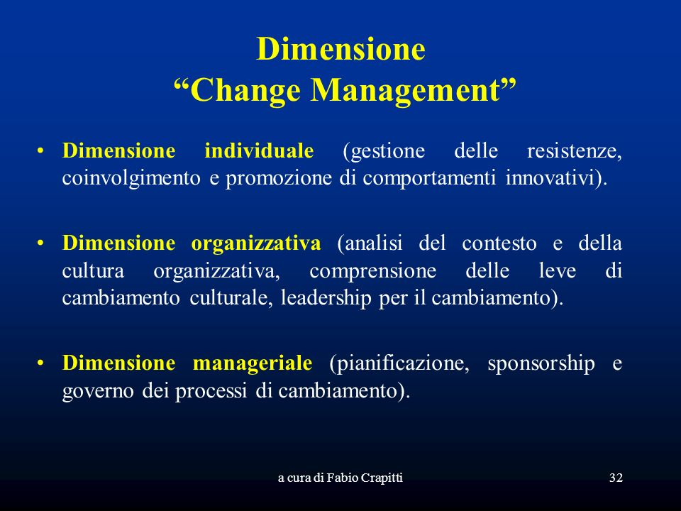 Dimensione Change Management