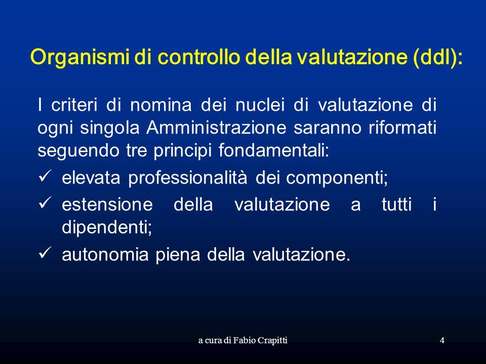 Organismi di controllo della valutazione (ddl):