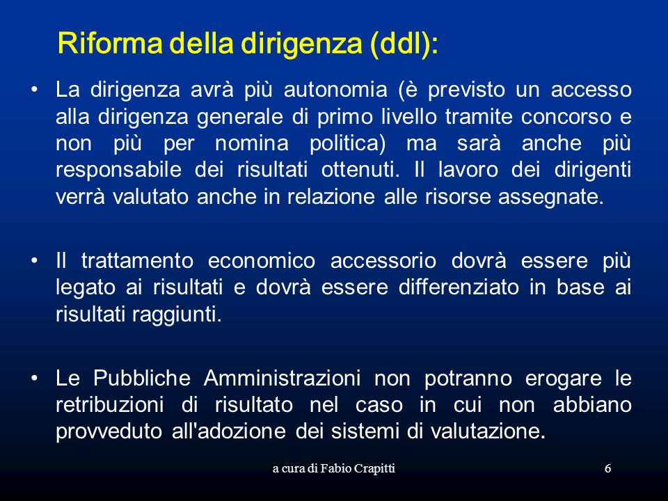 Riforma della dirigenza (ddl):