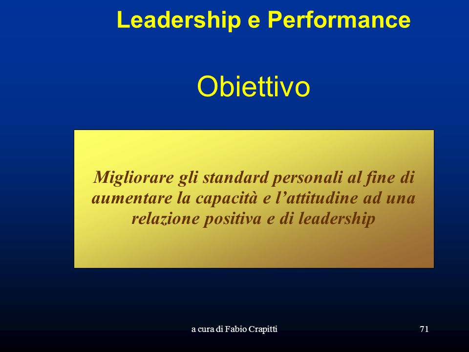 Leadership e Performance
