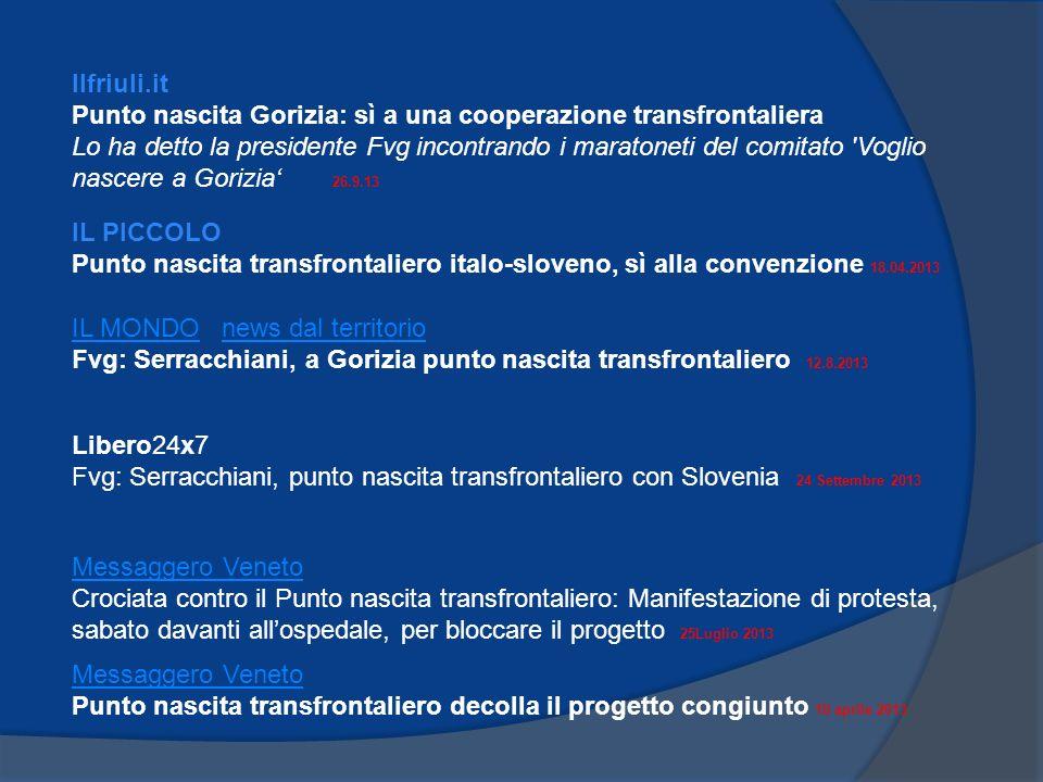 Ilfriuli.it Punto nascita Gorizia: sì a una cooperazione transfrontaliera.
