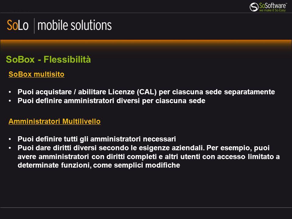 SoBox - Flessibilità SoBox multisito