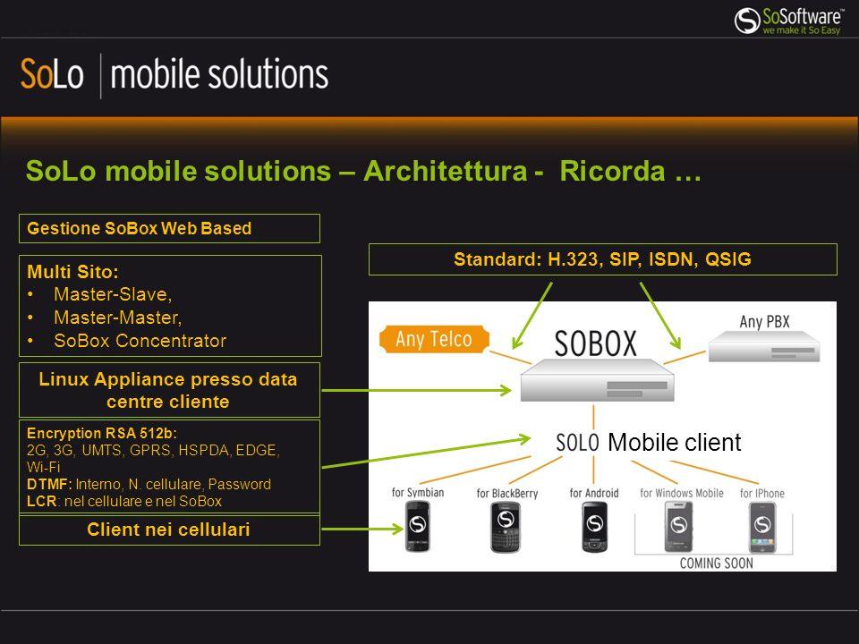 SoLo mobile solutions – Architettura - Ricorda …