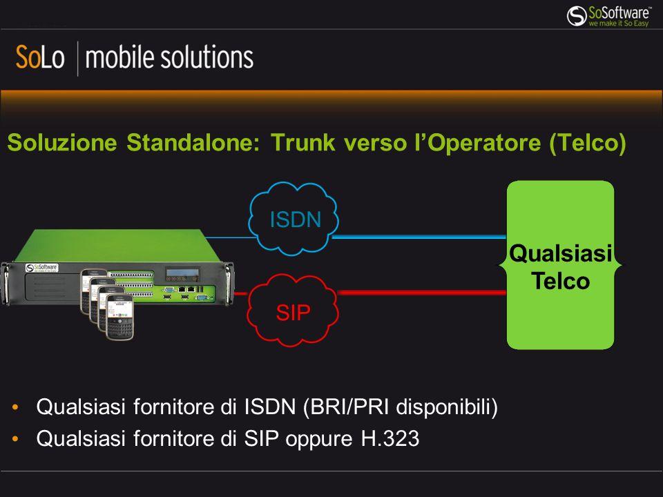 Soluzione Standalone: Trunk verso l'Operatore (Telco)