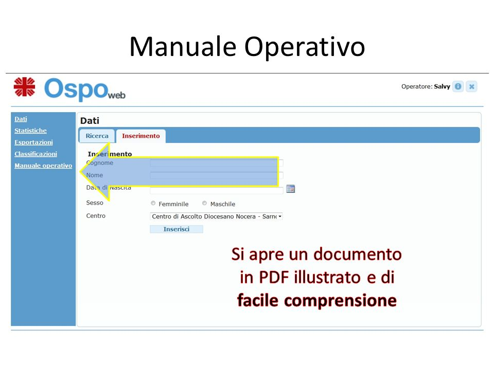 Si apre un documento in PDF illustrato e di facile comprensione