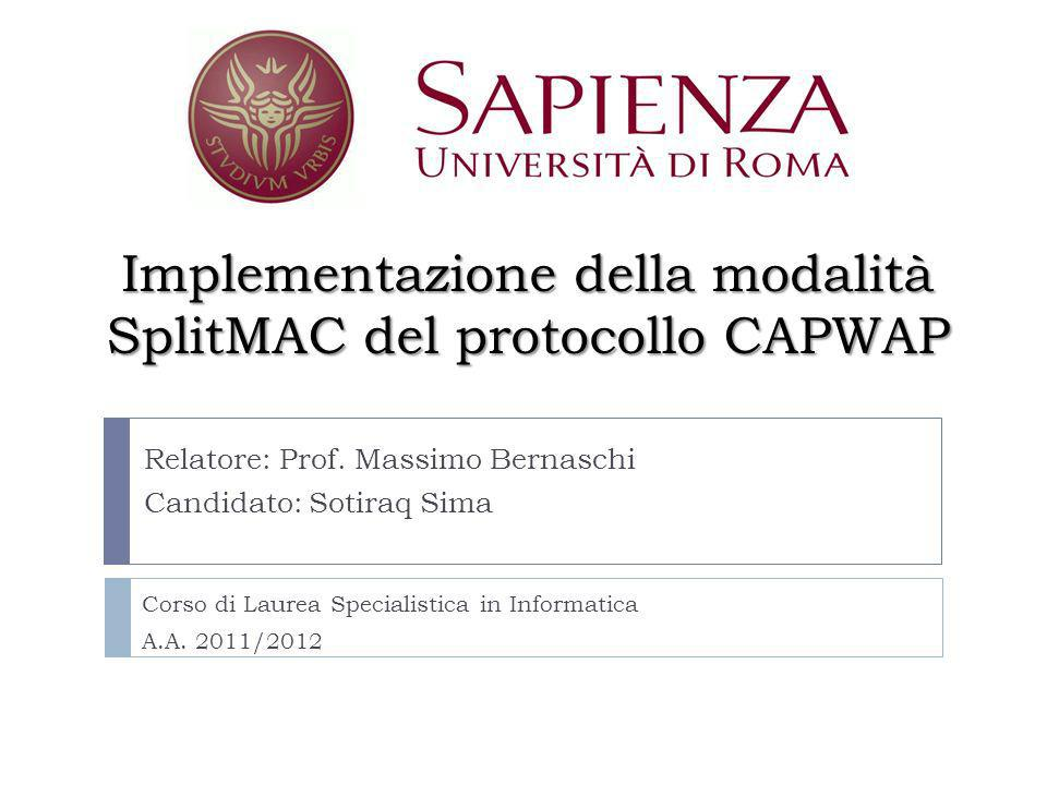 Implementazione della modalità SplitMAC del protocollo CAPWAP