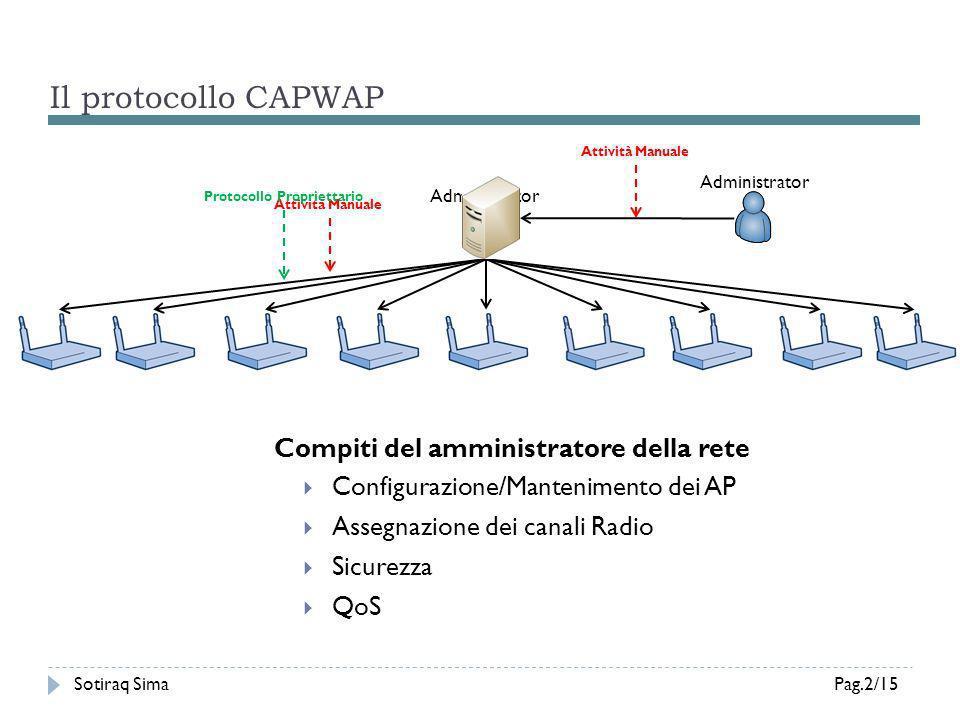 Il protocollo CAPWAP Compiti del amministratore della rete