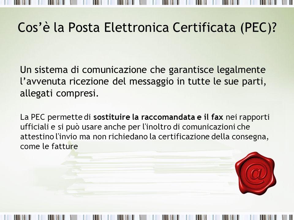 Cos'è la Posta Elettronica Certificata (PEC)