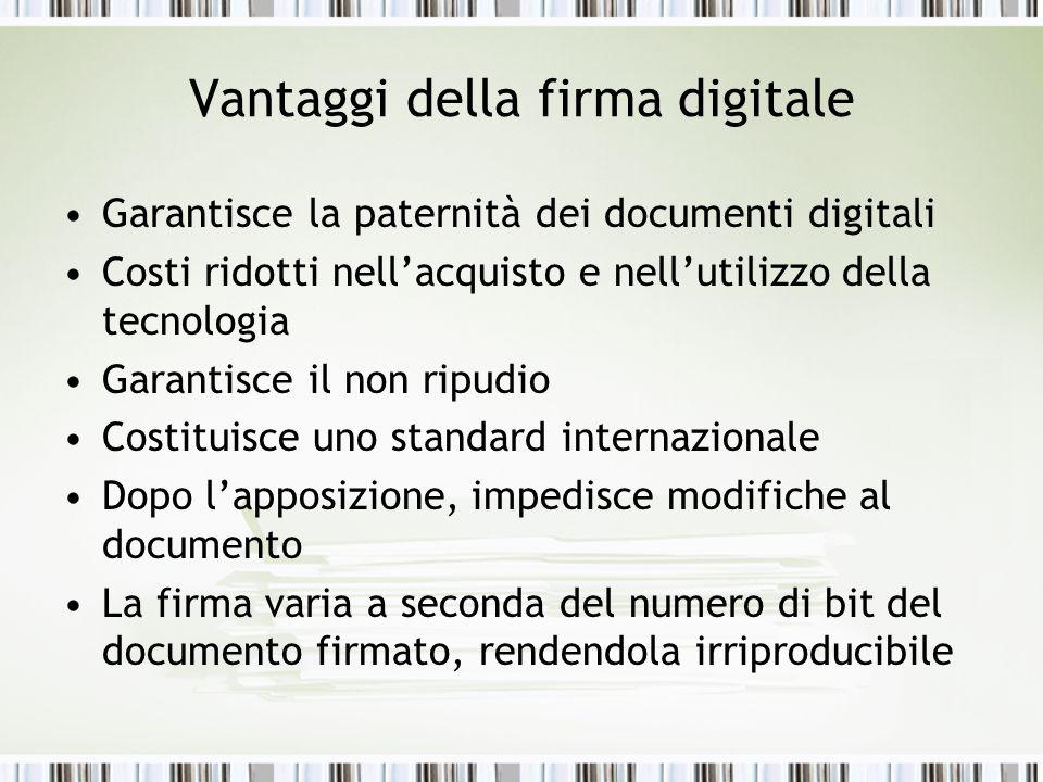 Vantaggi della firma digitale