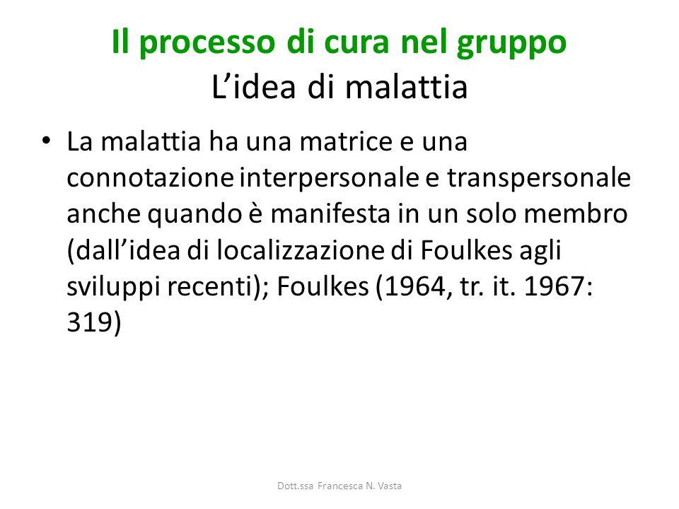 Il processo di cura nel gruppo L'idea di malattia