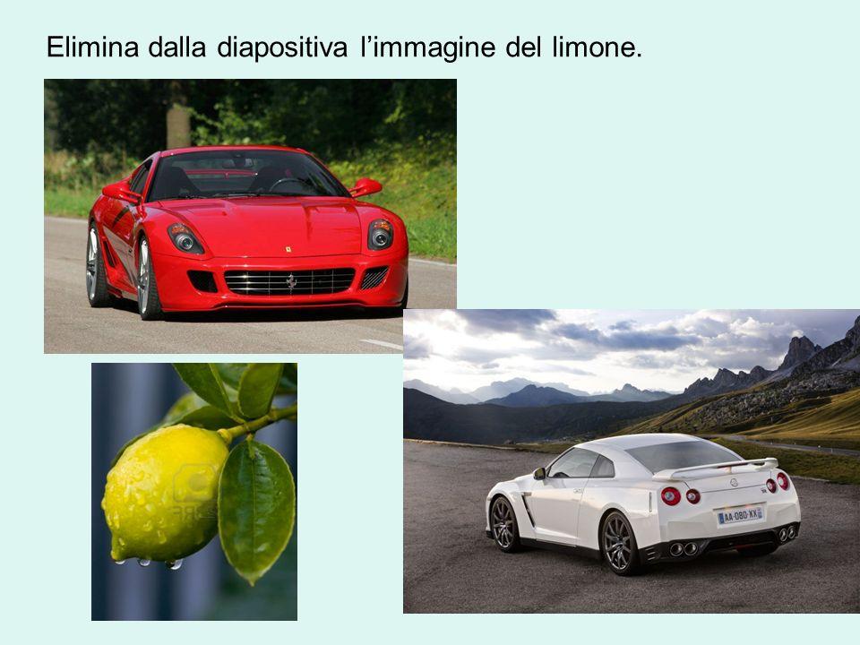 Elimina dalla diapositiva l'immagine del limone.