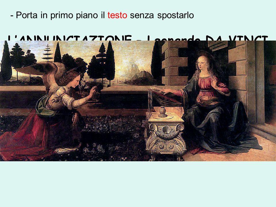 L'ANNUNCIAZIONE – Leonardo DA VINCI