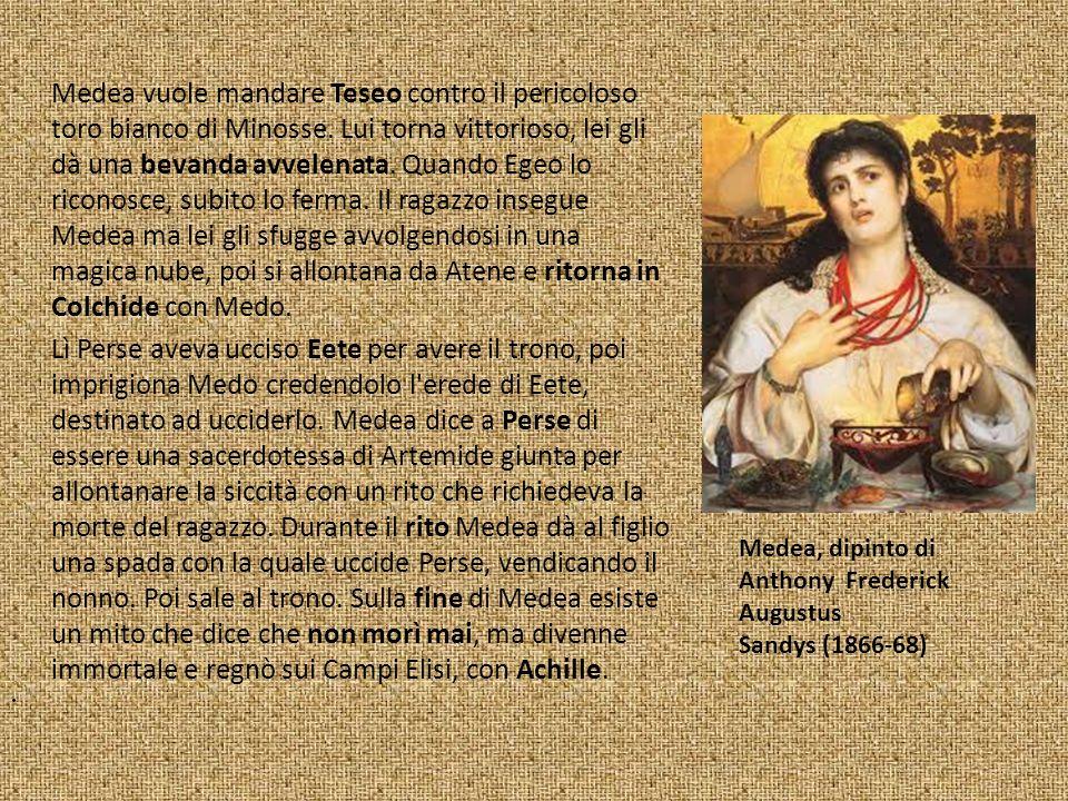 Medea vuole mandare Teseo contro il pericoloso toro bianco di Minosse