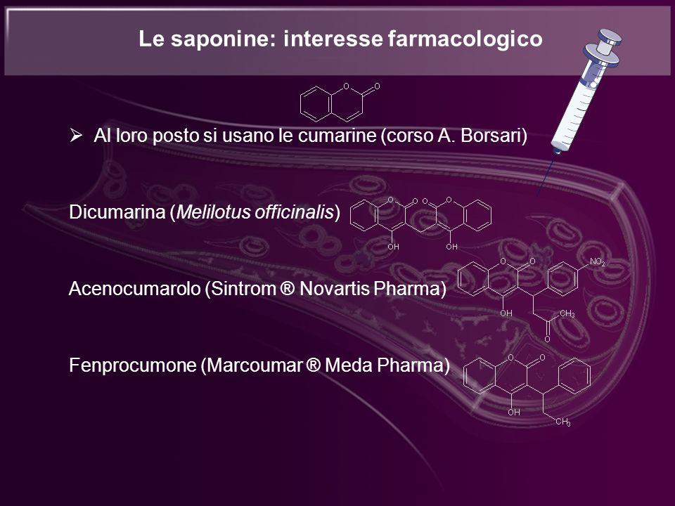 Le saponine: interesse farmacologico