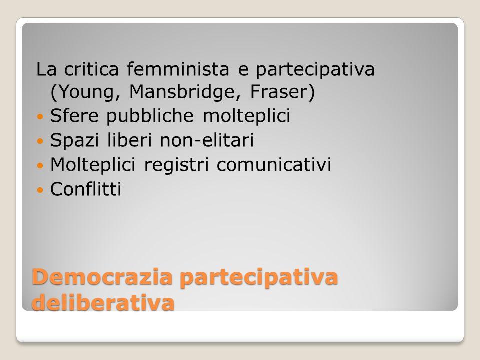 Democrazia partecipativa deliberativa