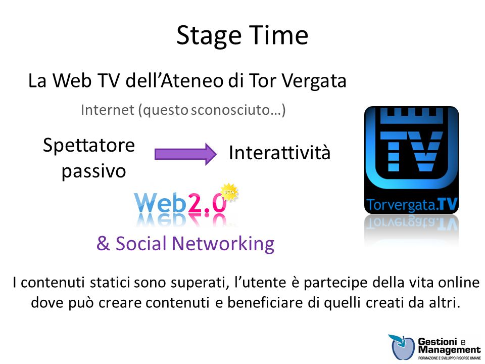 La Web TV dell'Ateneo di Tor Vergata