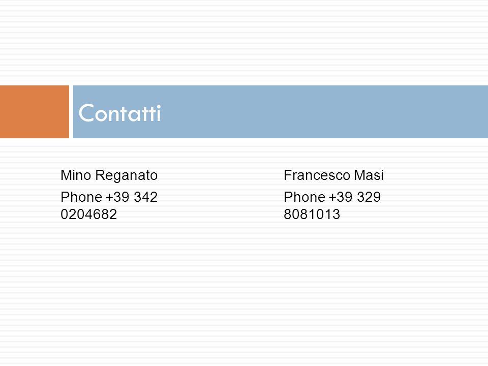 Contatti Mino Reganato Phone +39 342 0204682 Francesco Masi