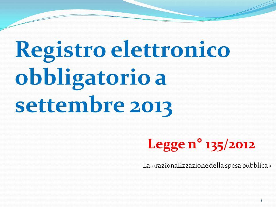 Registro elettronico obbligatorio a settembre 2013