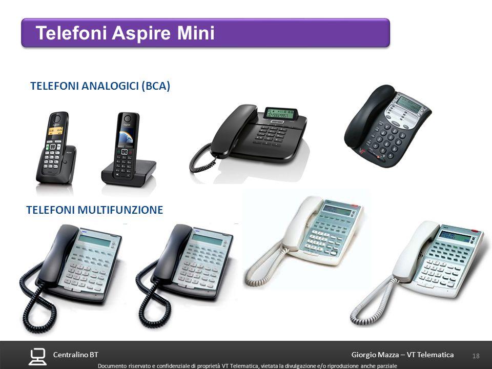 Telefoni Aspire Mini TELEFONI ANALOGICI (BCA) TELEFONI MULTIFUNZIONE