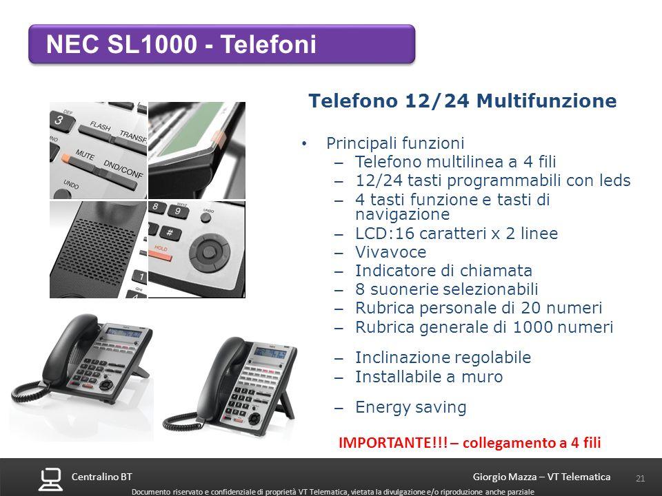 Telefono 12/24 Multifunzione
