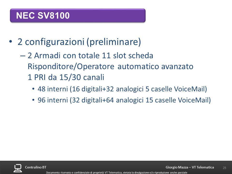 2 configurazioni (preliminare)