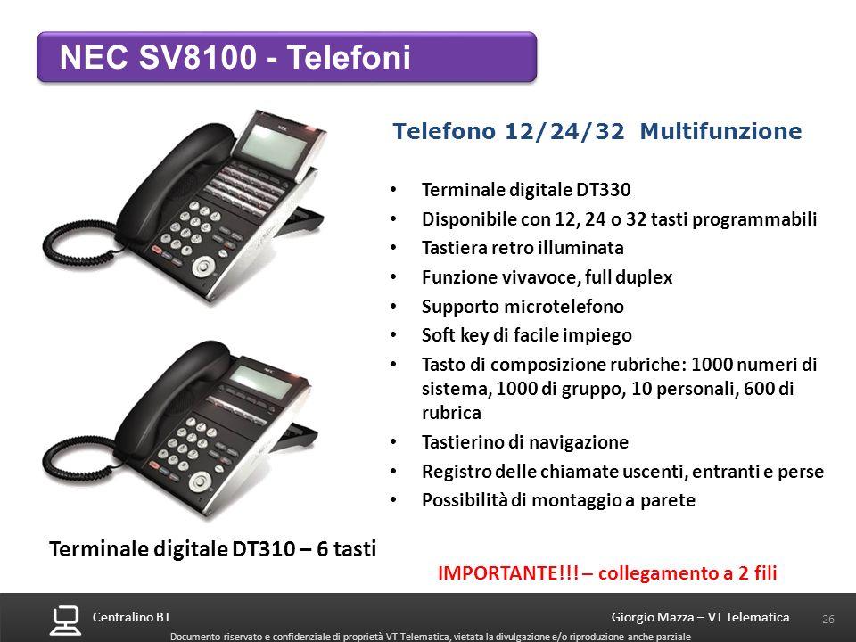 Telefono 12/24/32 Multifunzione