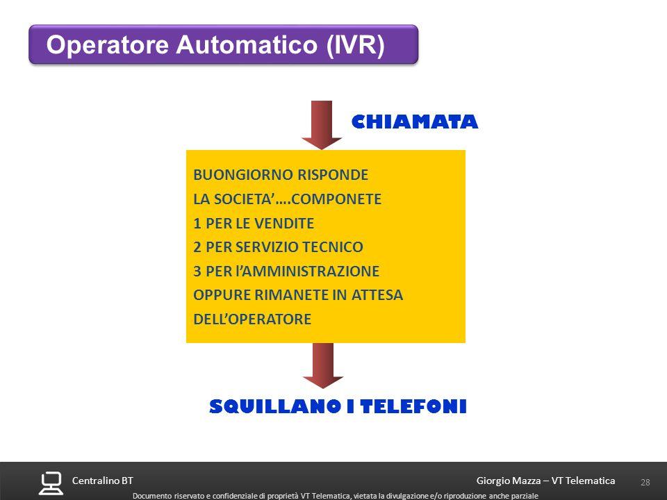 Operatore Automatico (IVR)