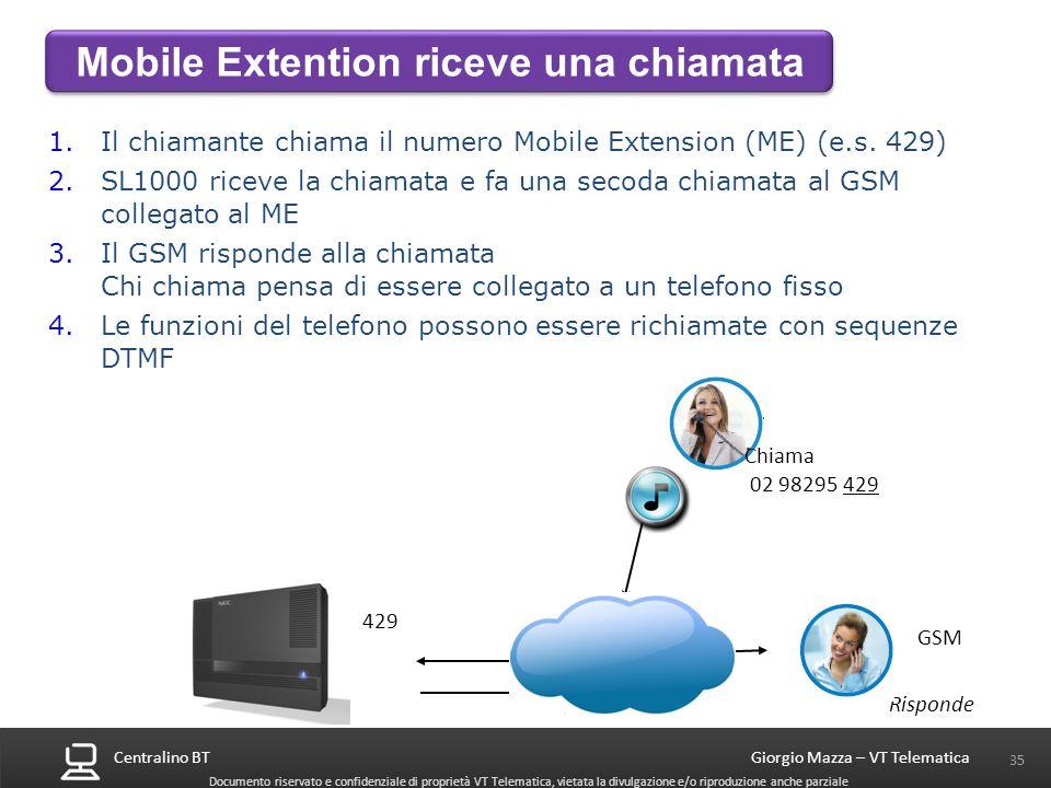 Mobile Extention riceve una chiamata