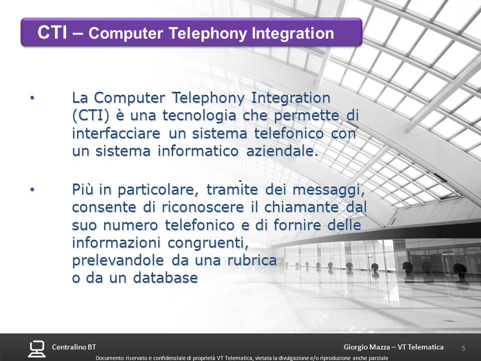 CTI – Computer Telephony Integration