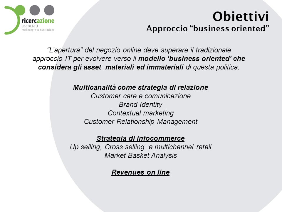 Strategia di infocommerce