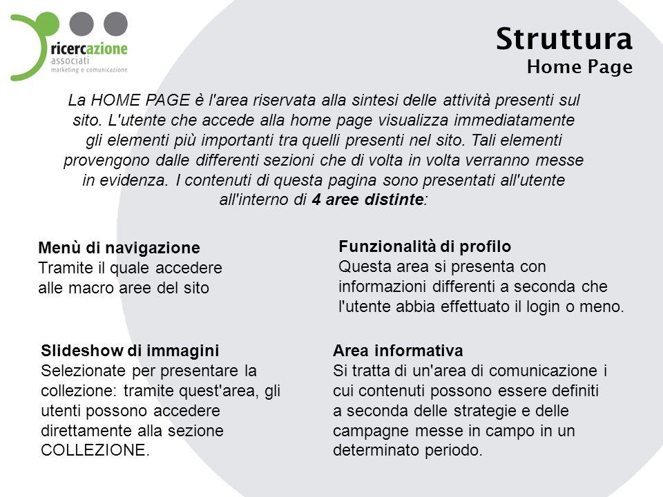 Struttura Home Page.