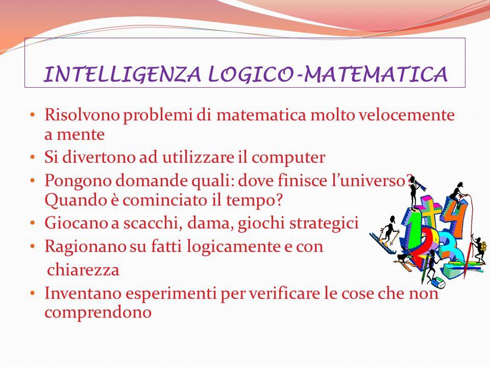 INTELLIGENZA LOGICO-MATEMATICA