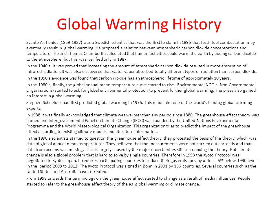 Global Warming History