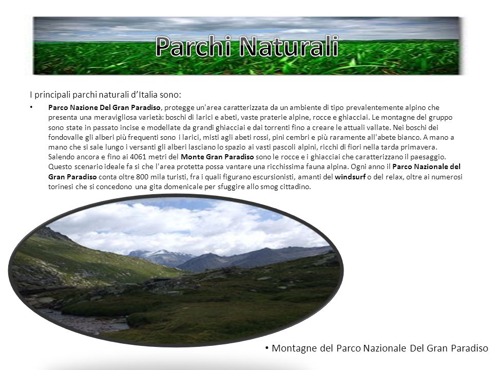 Parchi Naturali Montagne del Parco Nazionale Del Gran Paradiso