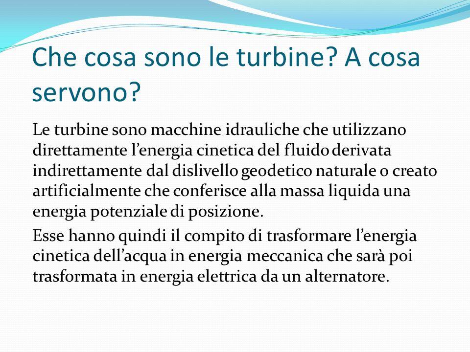 Che cosa sono le turbine A cosa servono