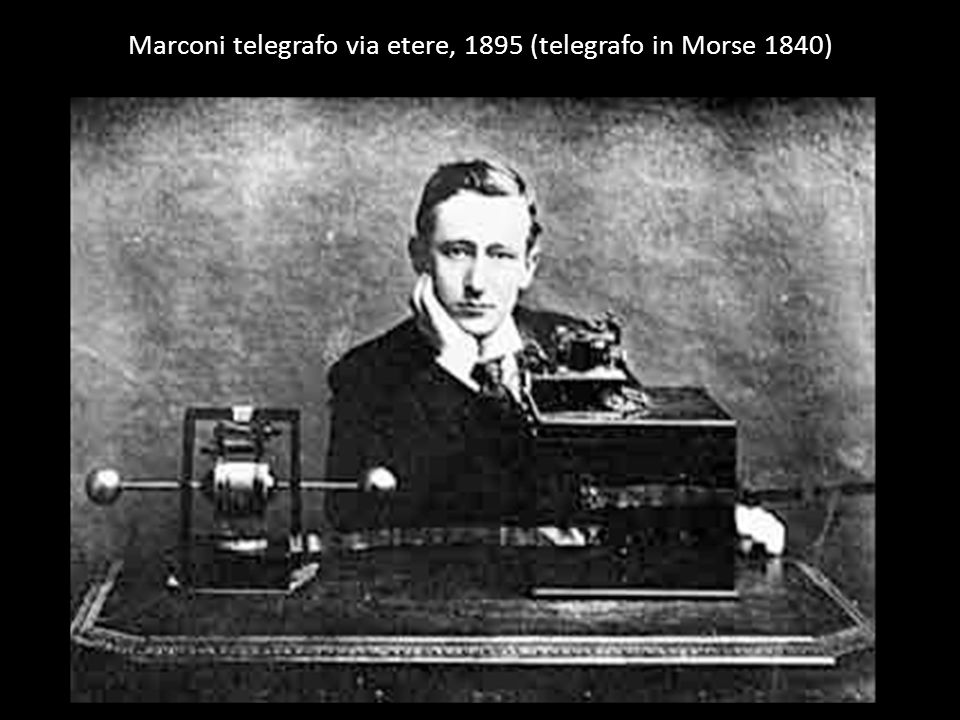 Marconi telegrafo via etere, 1895 (telegrafo in Morse 1840)