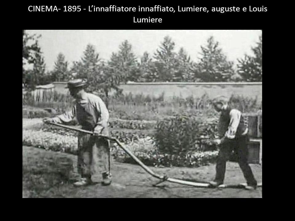 CINEMA- 1895 - L'innaffiatore innaffiato, Lumiere, auguste e Louis Lumiere
