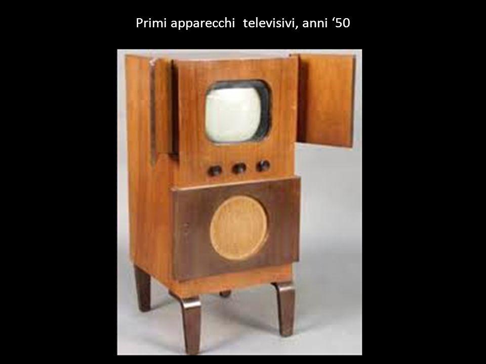 Primi apparecchi televisivi, anni '50