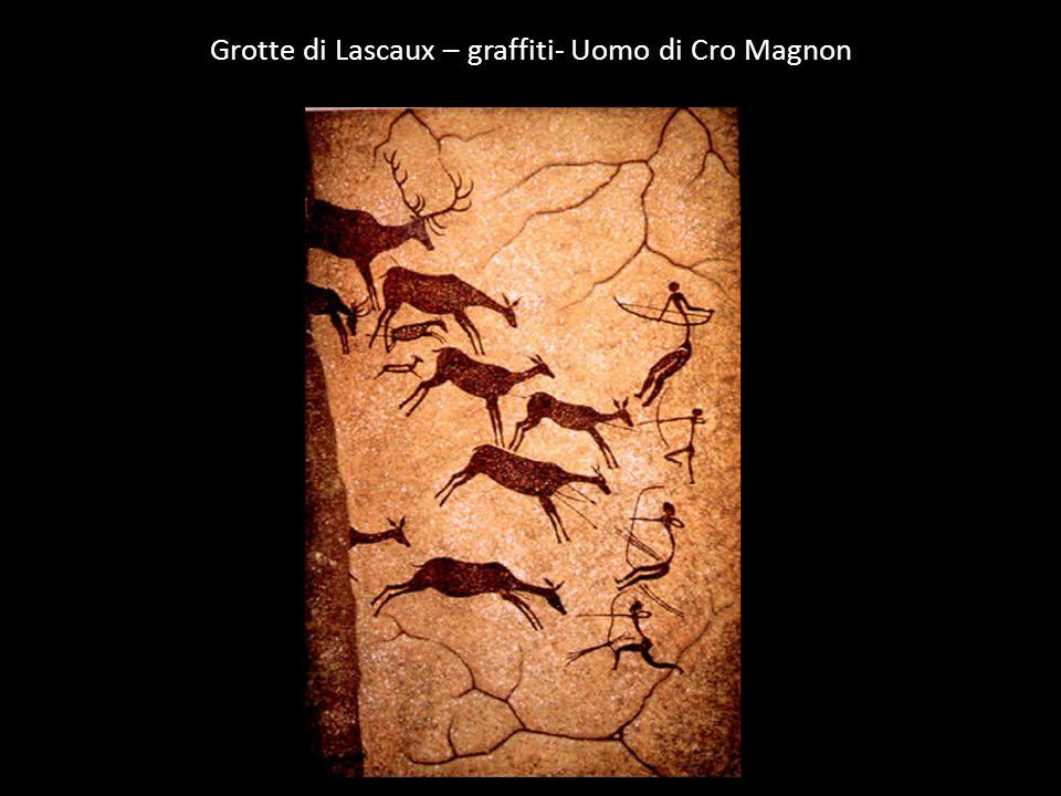 Grotte di Lascaux – graffiti- Uomo di Cro Magnon