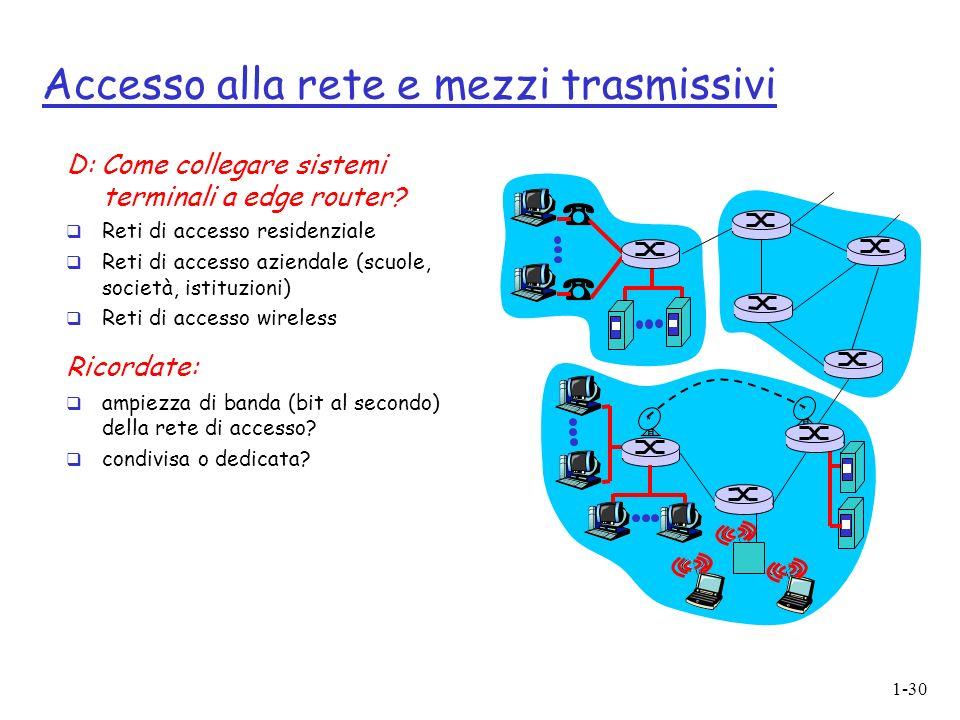 Accesso alla rete e mezzi trasmissivi