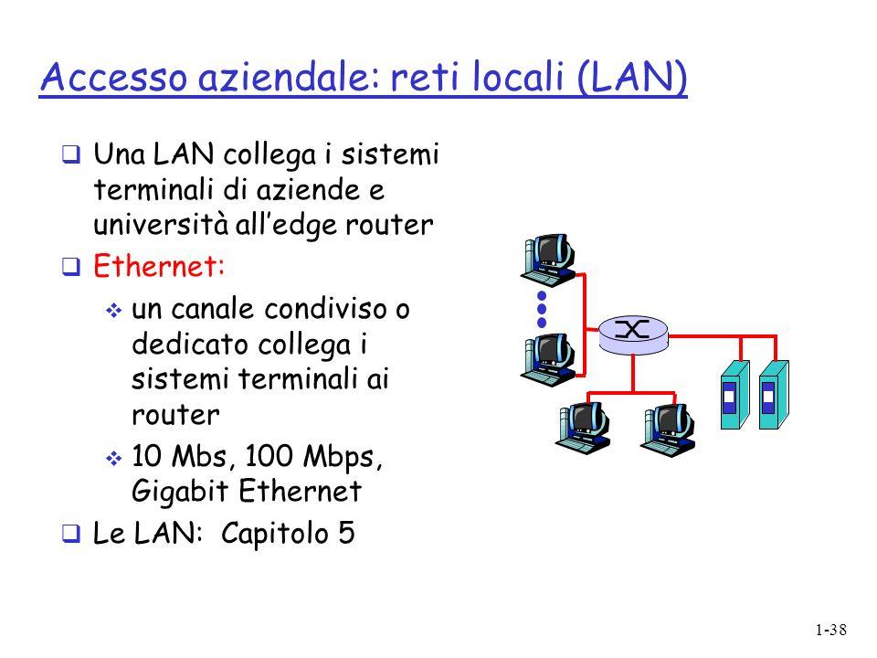 Accesso aziendale: reti locali (LAN)