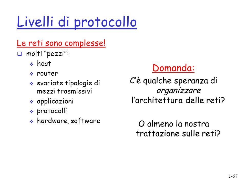 Livelli di protocollo Domanda: Le reti sono complesse!