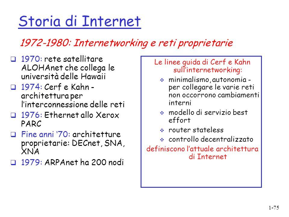 Storia di Internet 1972-1980: Internetworking e reti proprietarie