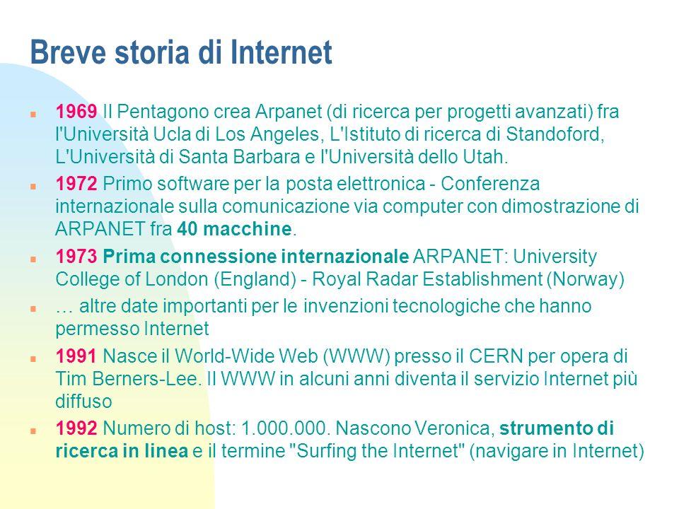 Breve storia di Internet