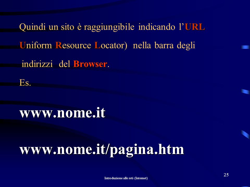 www.nome.it www.nome.it/pagina.htm