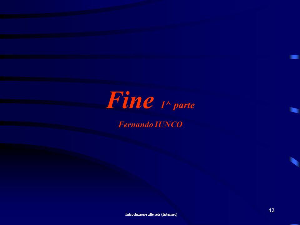 Fine 1^ parte Fernando IUNCO