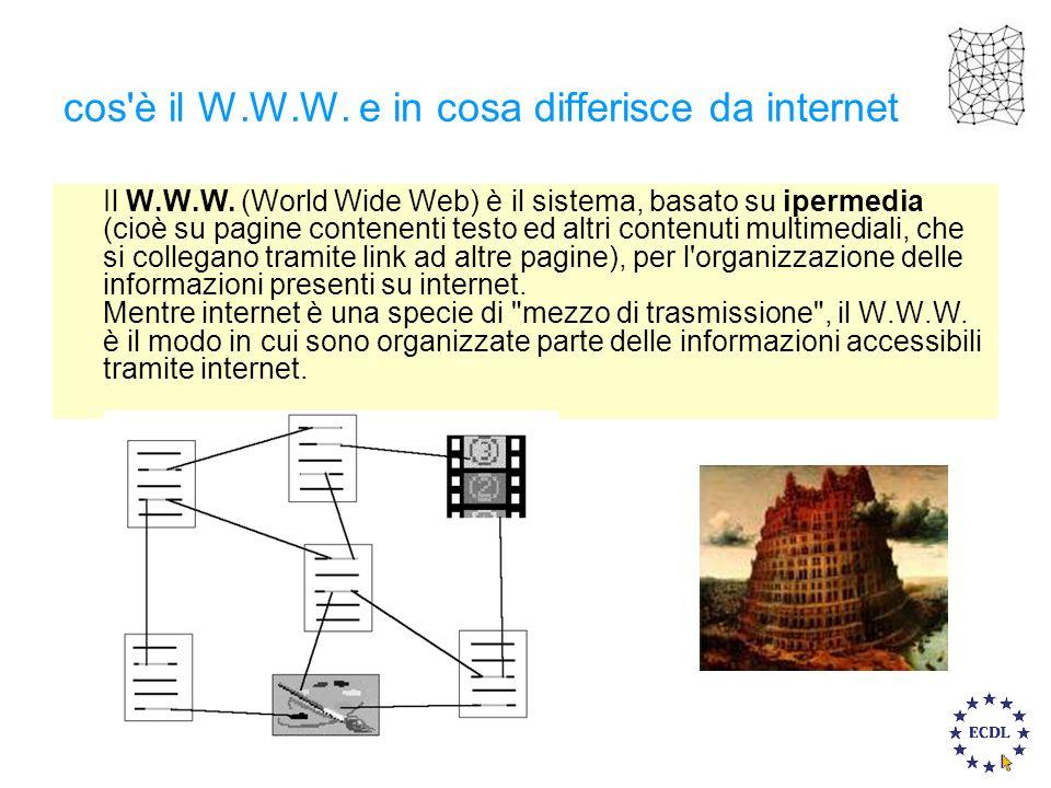 cos è il W.W.W. e in cosa differisce da internet